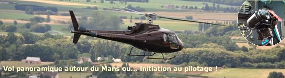 hélicoptère le mans